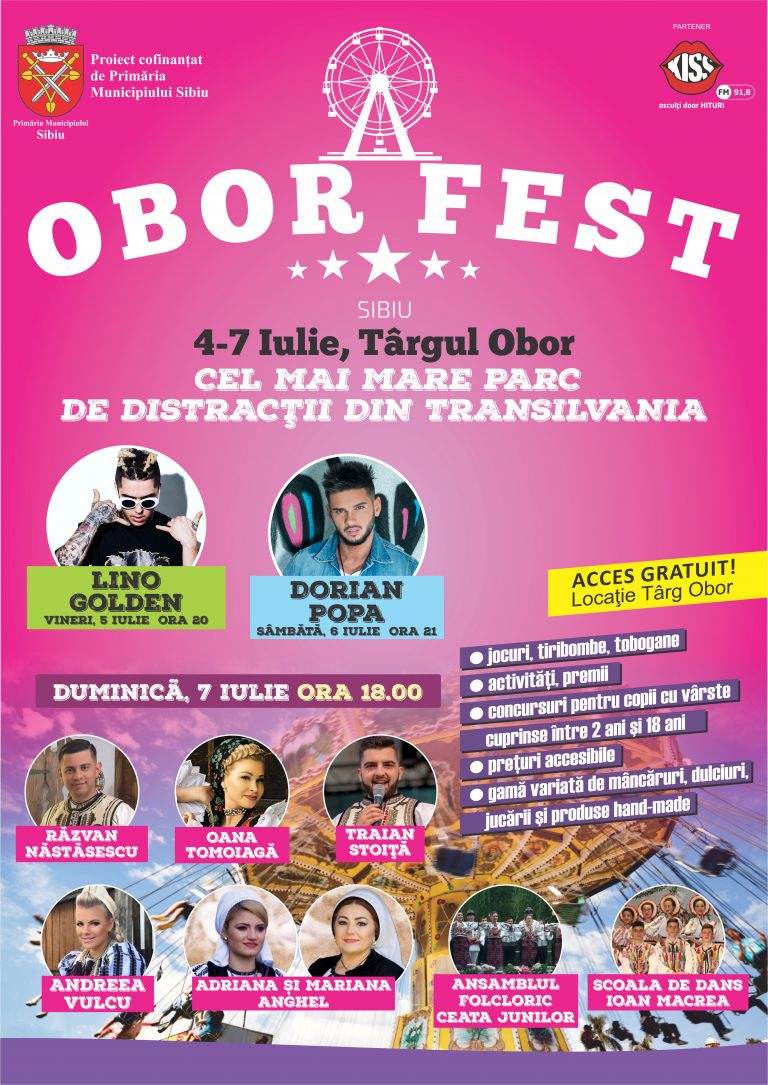 4-7  iulie este perioada in care targul Obor se transforma in singurul parc de distractii din Sibiu