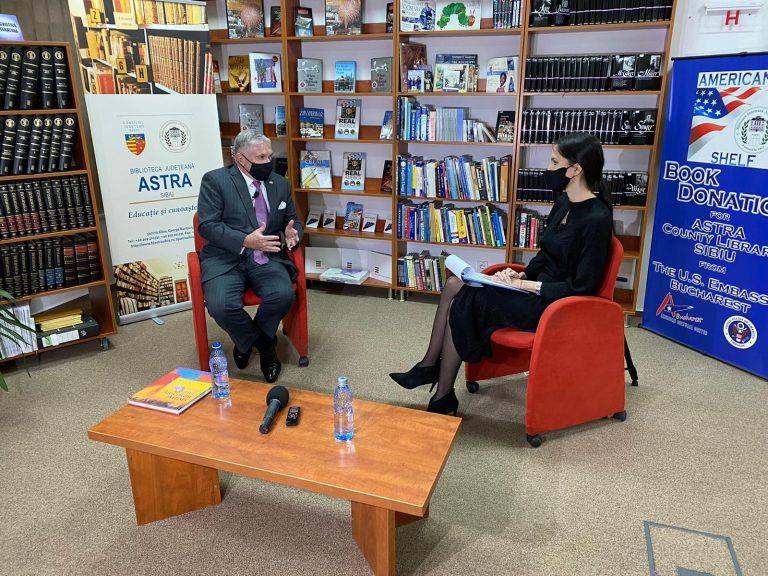 Interviu in ECLUSIVITATE la Eveniment TV-Ambasadorul SUA Adrian Zuckerman despre Sibiu!