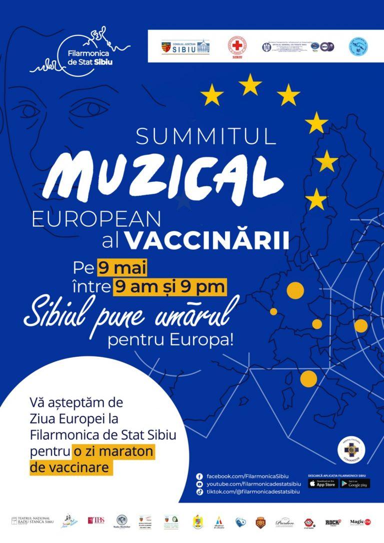 SIBIU – Pe 9 Mai, vino să te vaccinezi la Summit-ul Muzical de la Filarmonica de Stat Sibiu