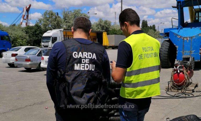 Peste 180 tone de deșeuri oprite la intrarea în România