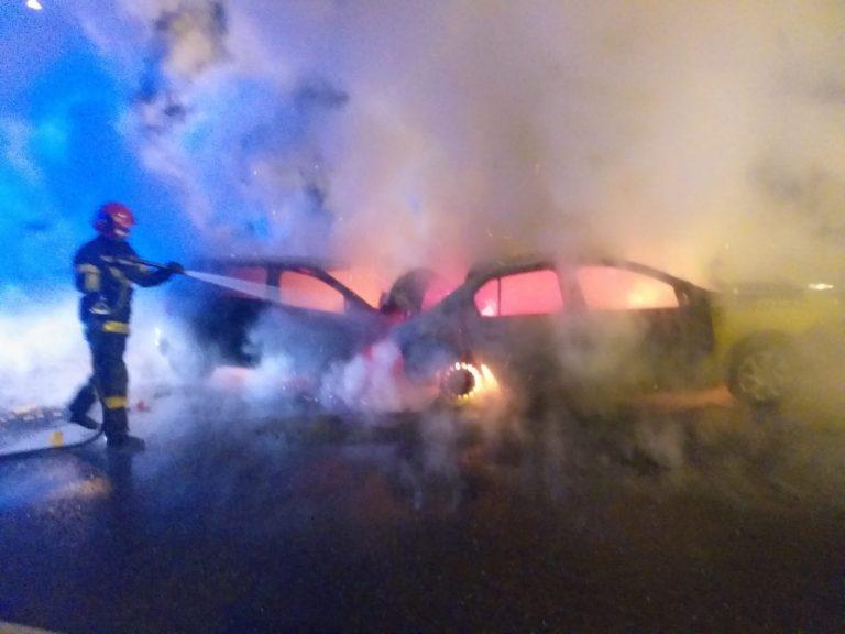 SIBIU – Update accident rutier urmat de incendiu DN 1 Veștem (ieșirea de pe A1)