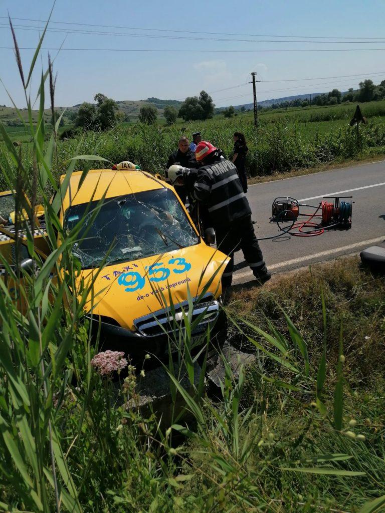 SIBIU – Accident pe DJ 106